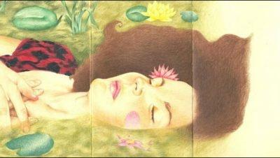 Belas pinturas feitas com caderninhos mmoleskine, grandes artes de impressionar. (24)