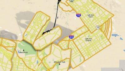 A procura por petróleo chaga até no Google maps