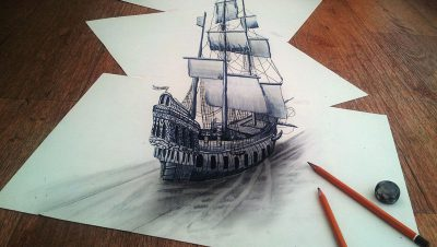 Impressionantes desenhos 3D feitos com um simples lápis, vejam só - feitos por ramon bruin (6)