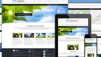 Celestial, tema de Wordpress responsivo em HTML5 / CSS3 grátis para download