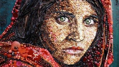 Pinturas recriadas por Jane Parkins com plástico (6)