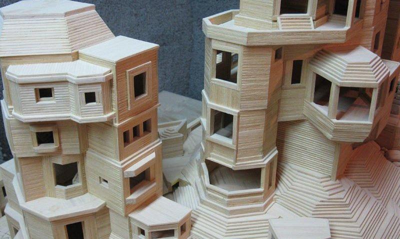 Esculturas criativas feitas com palitos de madeira (2)