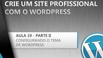 Como configurar meu tema de wordpress