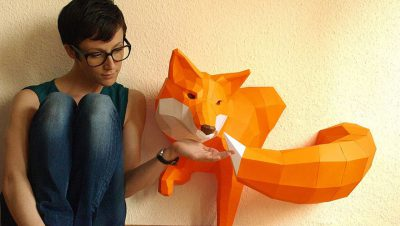 Esculturas geométricas de animais (7)
