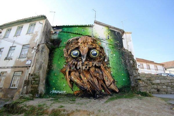 Arte urbana feita com lixo e sucata nas ruas de Portugal (3)