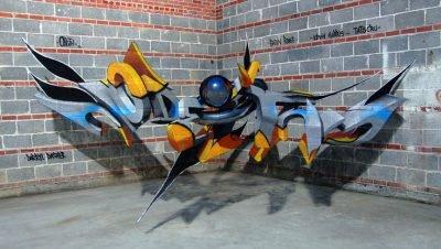 Arte urbana criativa em 3D (1)
