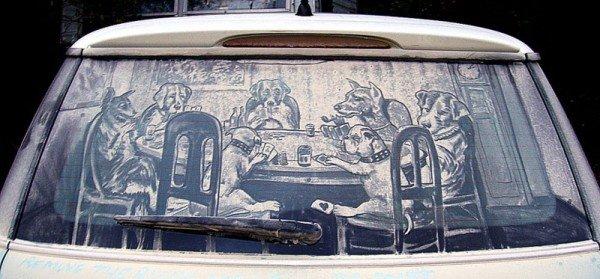 Desenhos criativos feitos em carros sujos (7)