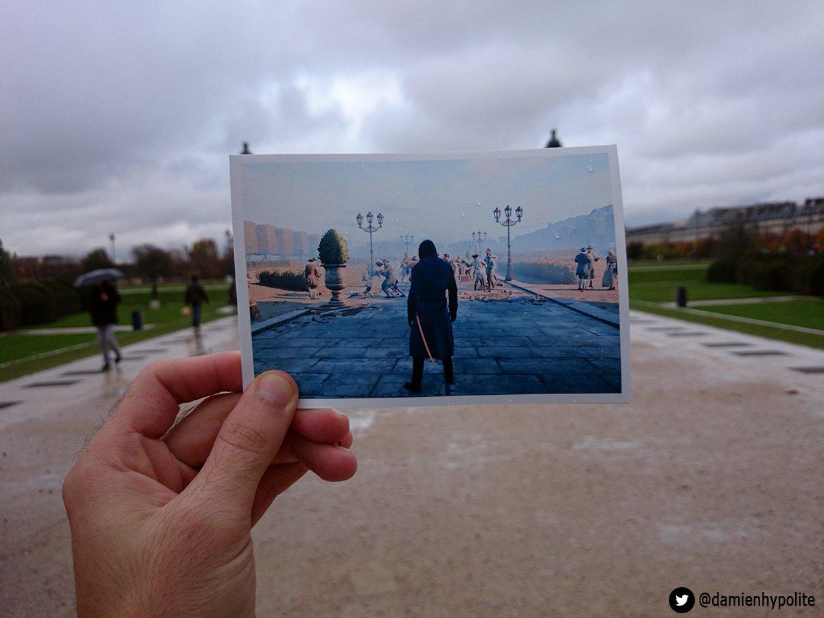 fa faz montagens com comparações da Paris real com Virtual (1)
