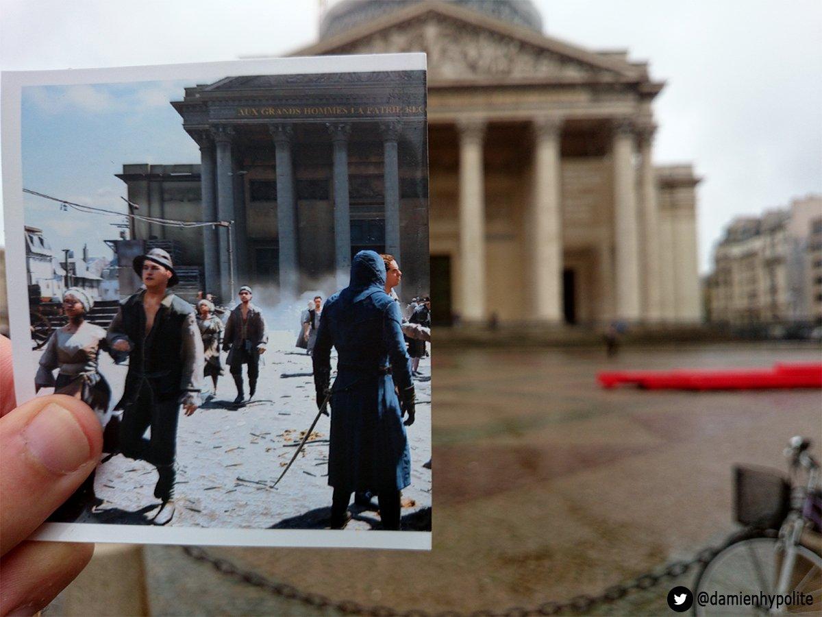 fa faz montagens com comparações da Paris real com Virtual (7)