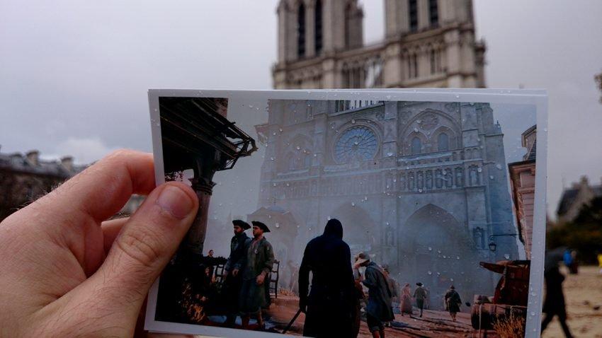 fa faz montagens com comparações da Paris real com Virtual (3)