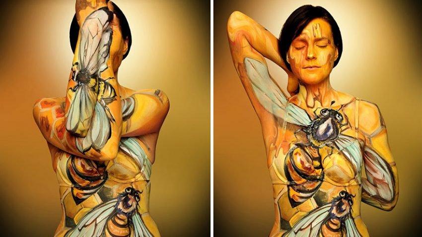 Pinturas criativas em corpos (5)