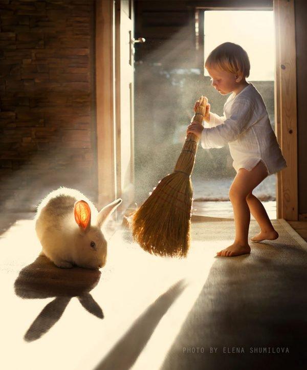 Fotografias inspiradoras com crianças e animais (2)