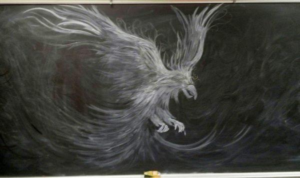 Desenhos feitos em lousa com giz (6)