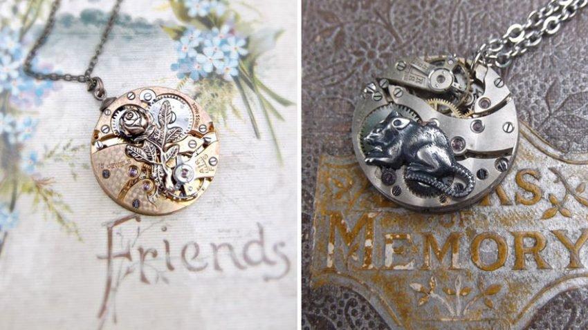 Jóias feitas de peças de relógios antigos (5)