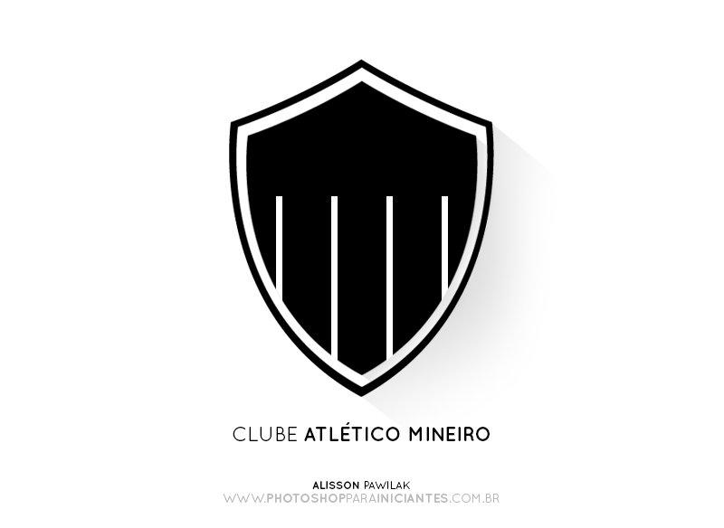 Atlético MG - Escudo Minimalista