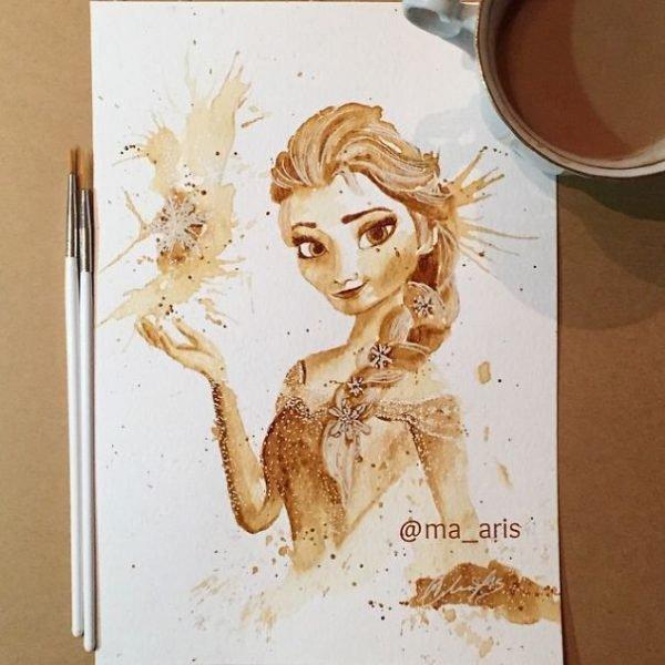 Desenhos criativos feitos de café (8)