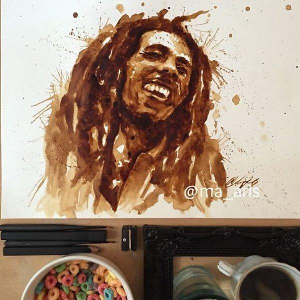 Desenhos criativos feitos de café (17)