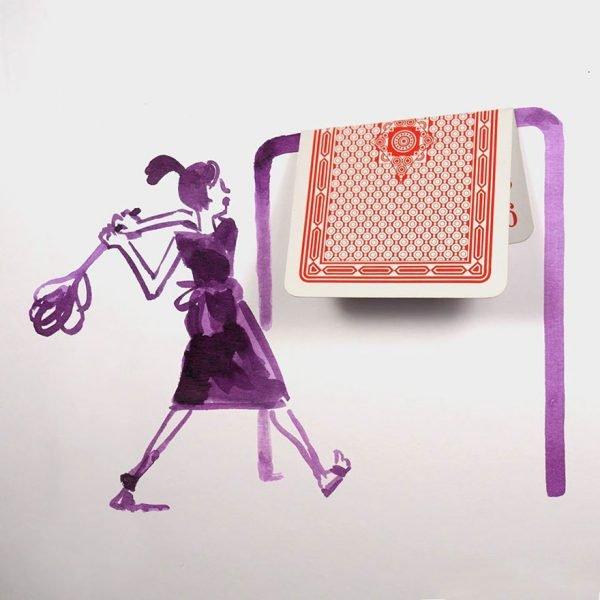 desenhos criativos feitos com objetos do dia a dia (8)