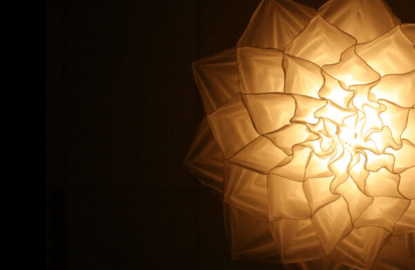 Lustres criativos e com design de flores (1)