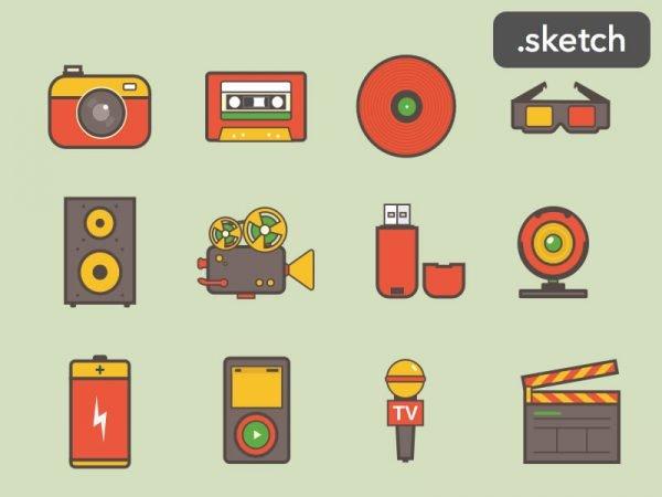 icones em sketch