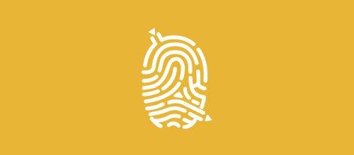 Logotipos criativos feitos com digitais (3)