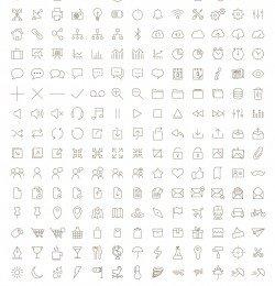 icones em linha