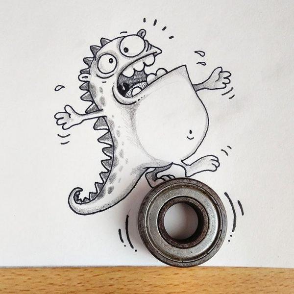 Desenhos criativos em 3d (11)