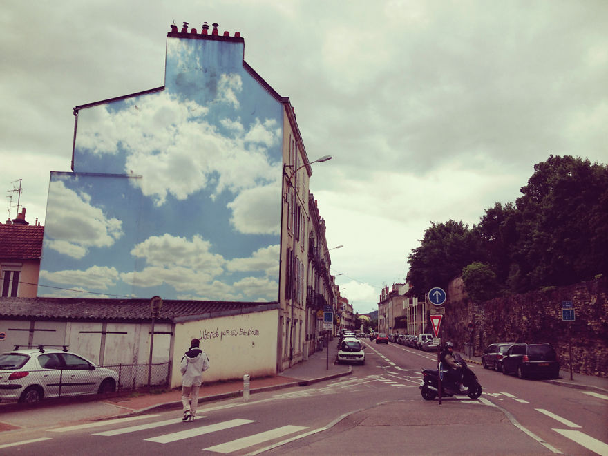 Pinturas lindas no céu em artes urbanas (5)