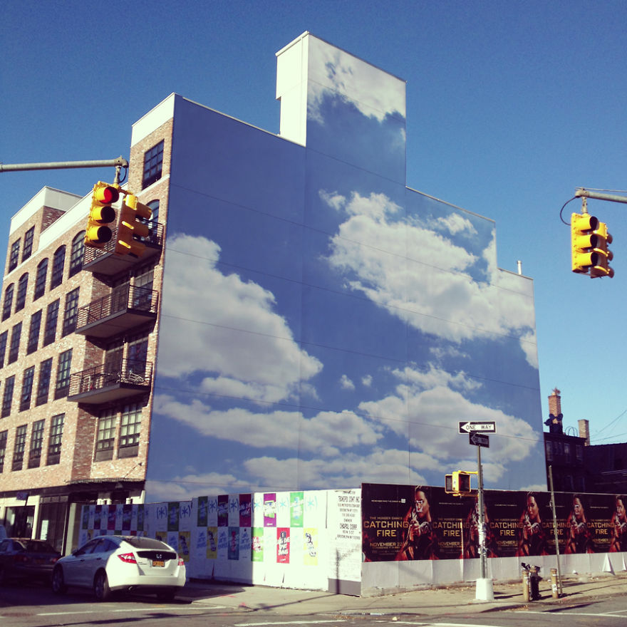 Pinturas lindas no céu em artes urbanas (2)