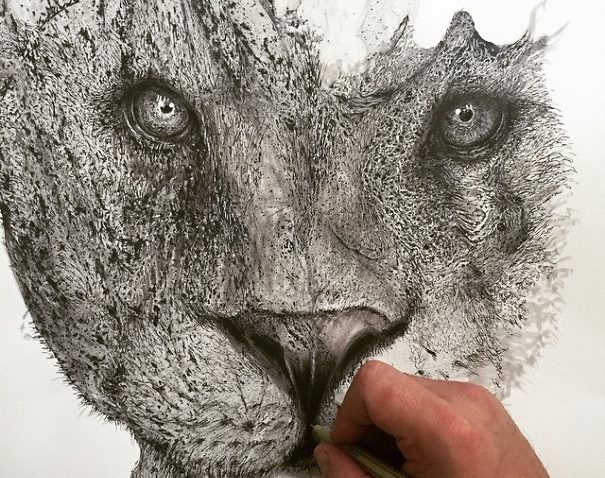 Desenhos criativos a lápis (2)