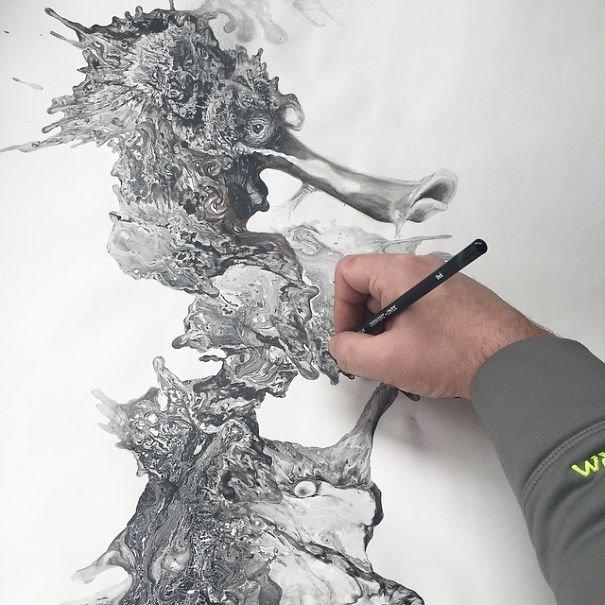 Desenhos criativos a lápis (17)