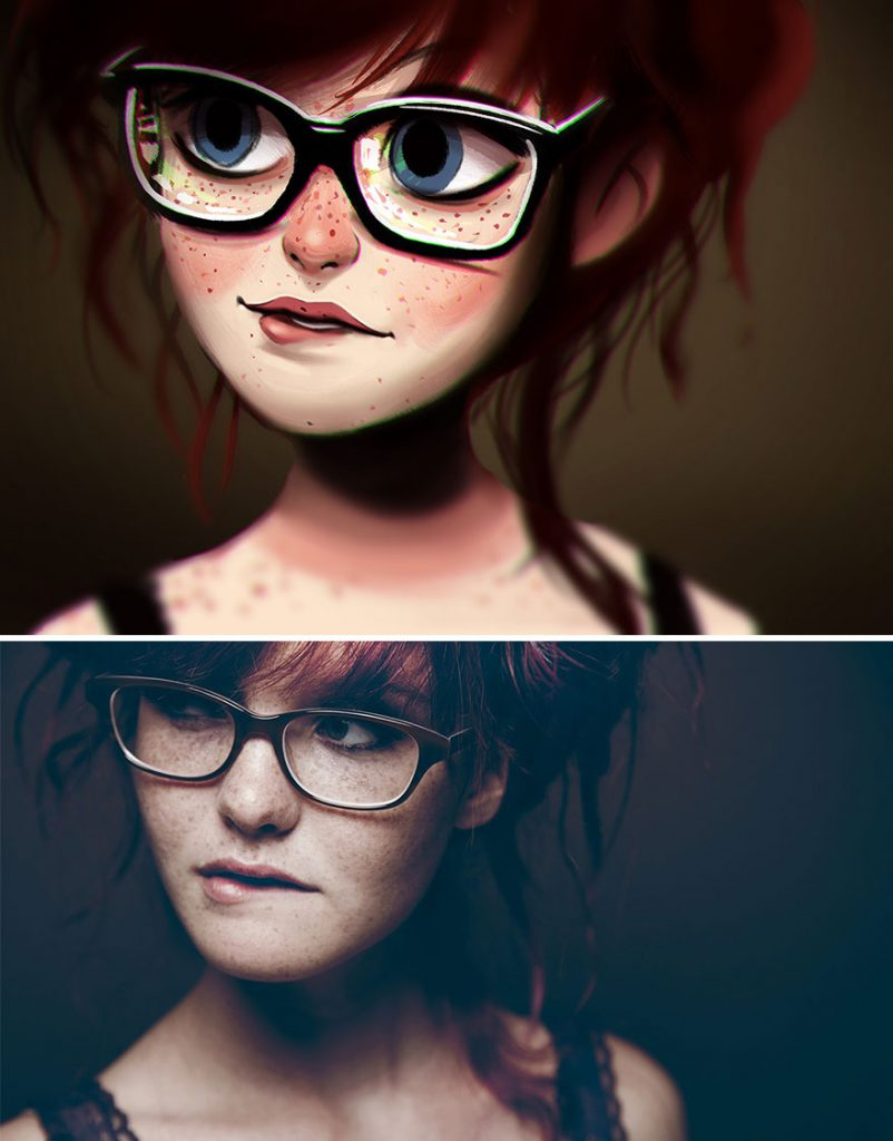 Ilustrações criativas inspirada em pessoas aleatórias (3)