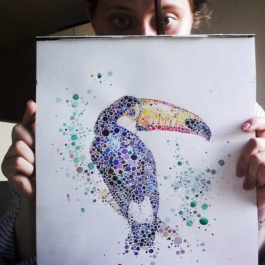 pinturas criativas feitas com potilhados (10)