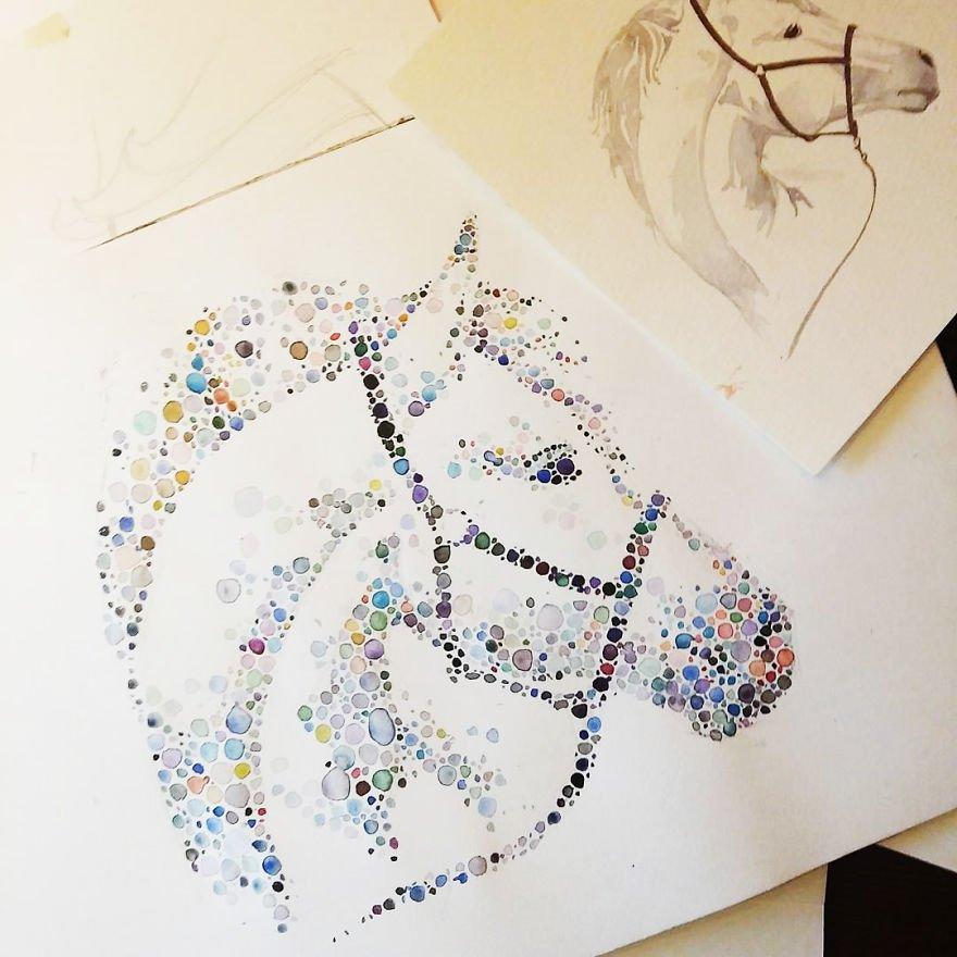 pinturas criativas feitas com potilhados (8)