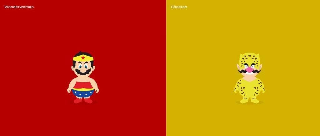 Ilustrações criativas de comemoração do Super Mário (3)