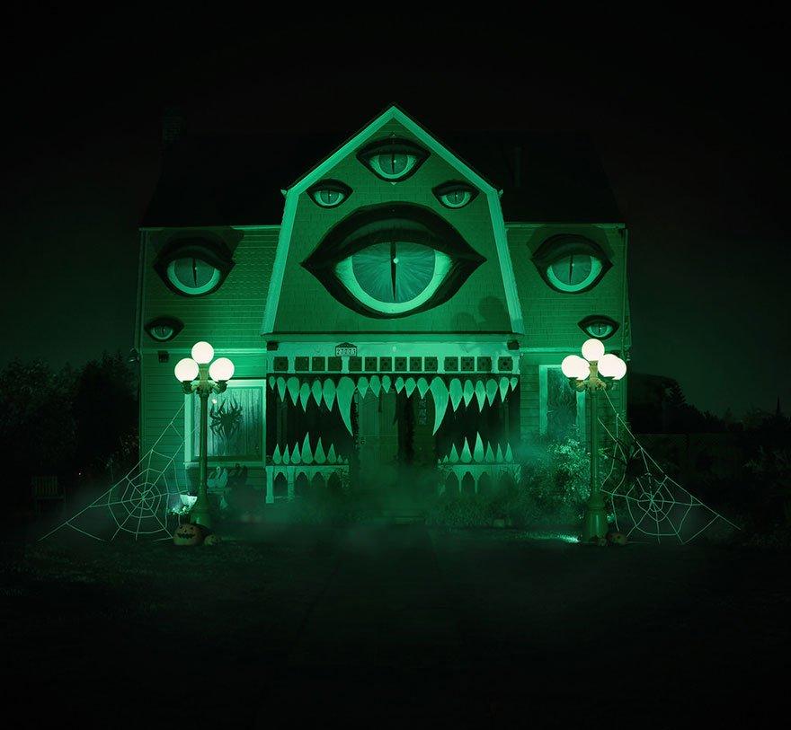 Casa decorada para o dia das bruxas (6)