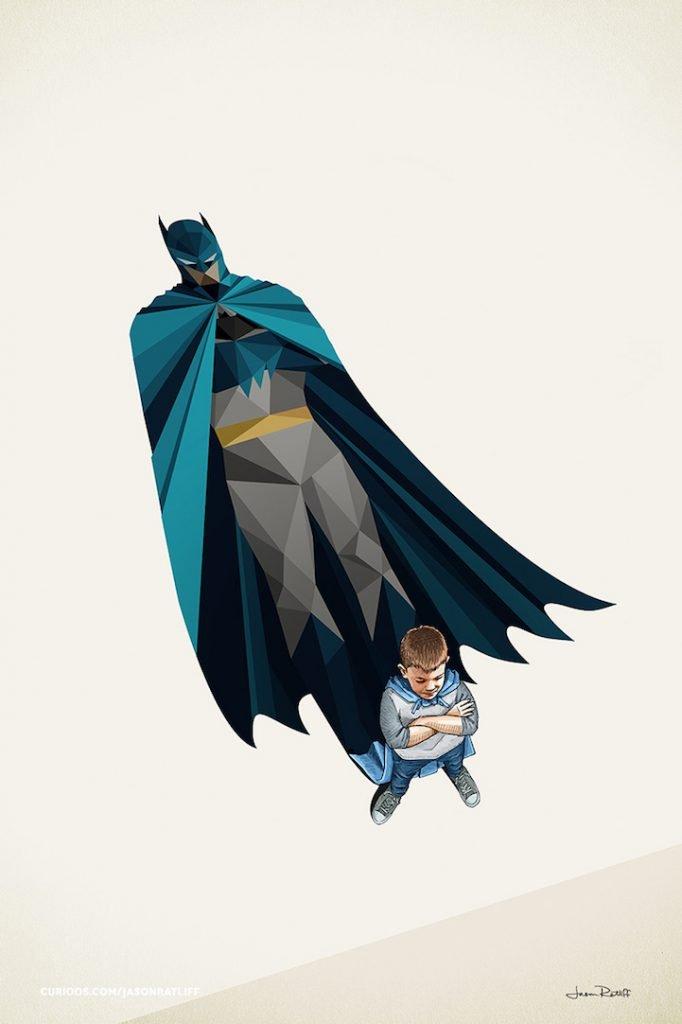 Ilustrações de crianças e seus super herois (4)