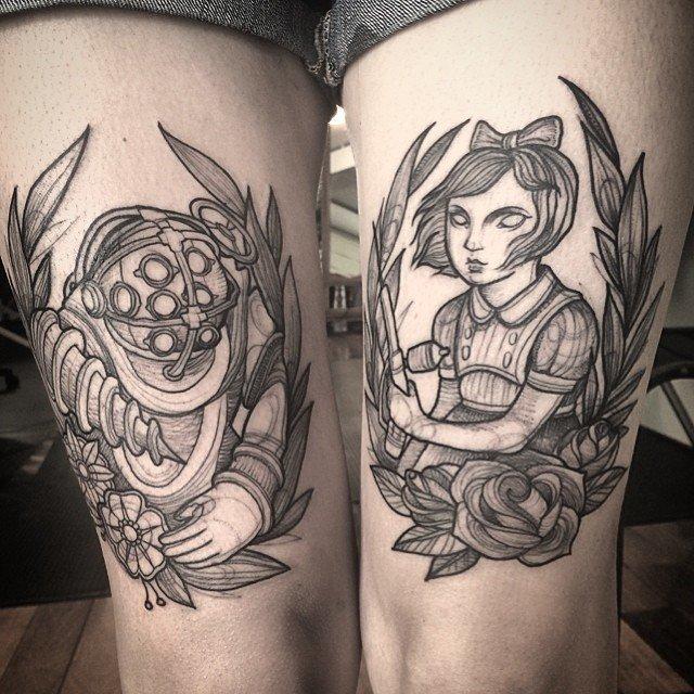 Tatuagens criativas feitas em esboço (4)