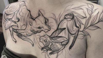 Tatuagens criativas feitas em esboço (2)