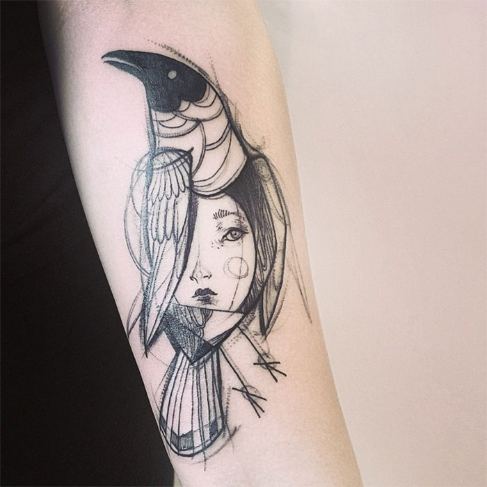 Tatuagens criativas feitas em esboço (11)