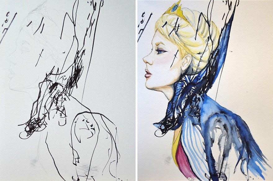 Desenhos feitos por mãe e filha (6)