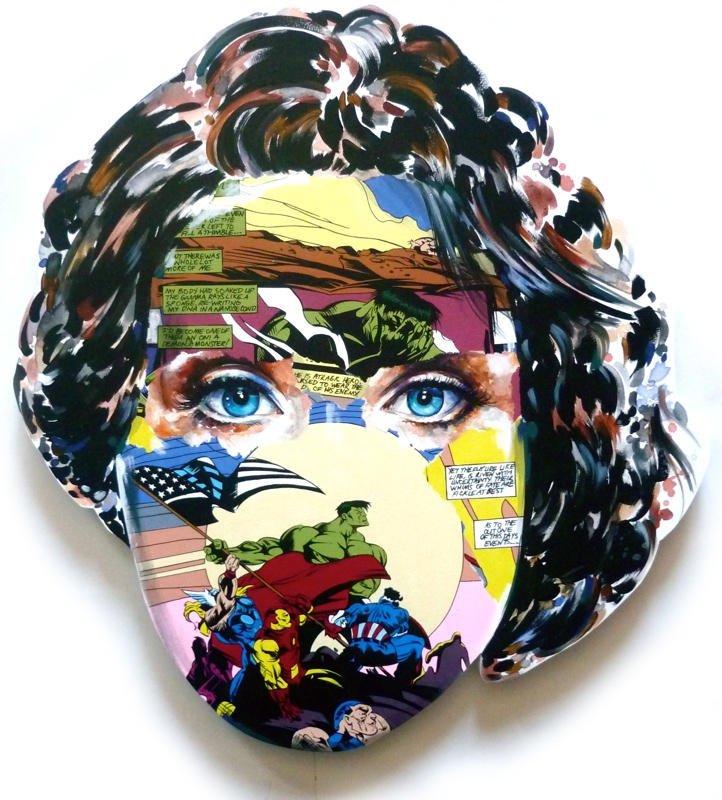 Desenhos e ilustrações de quadrinhos em rostos femininos (2)