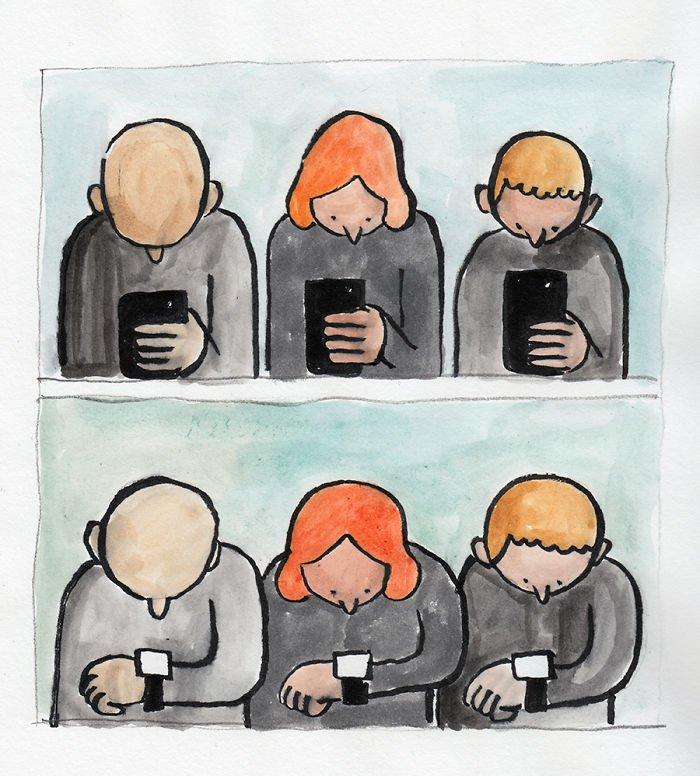 ilustrações sobre o cotidiano das pessoas (6)