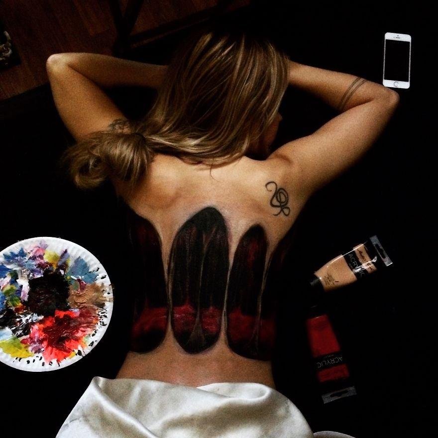 Pinturas em 3d feitas em corpo humano (4)