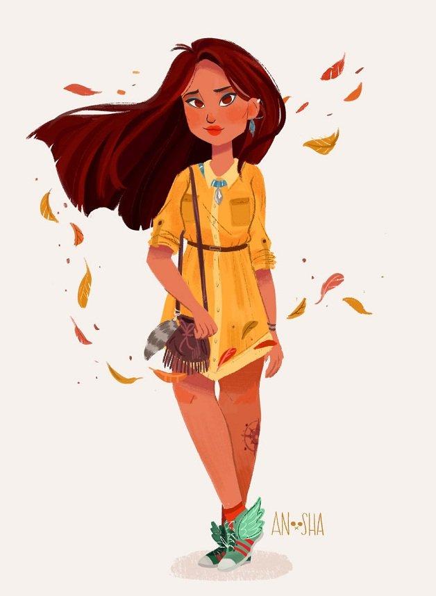 ilustradora cria princesas da disney com histórias mais modernas (5)