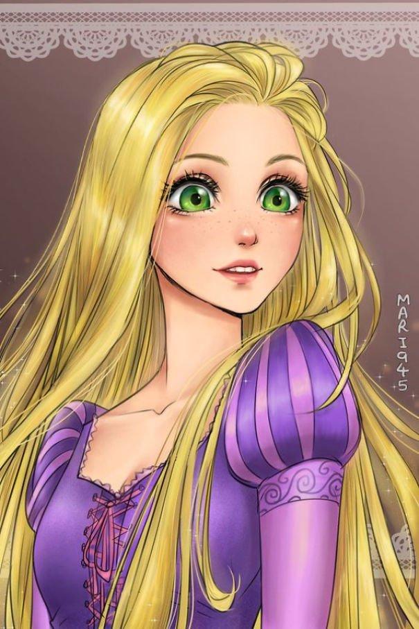 Princesas da Disney recriadas em mangá (14)