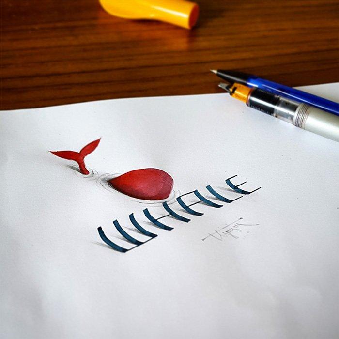 Tipografias ilustradas em 3D (11)