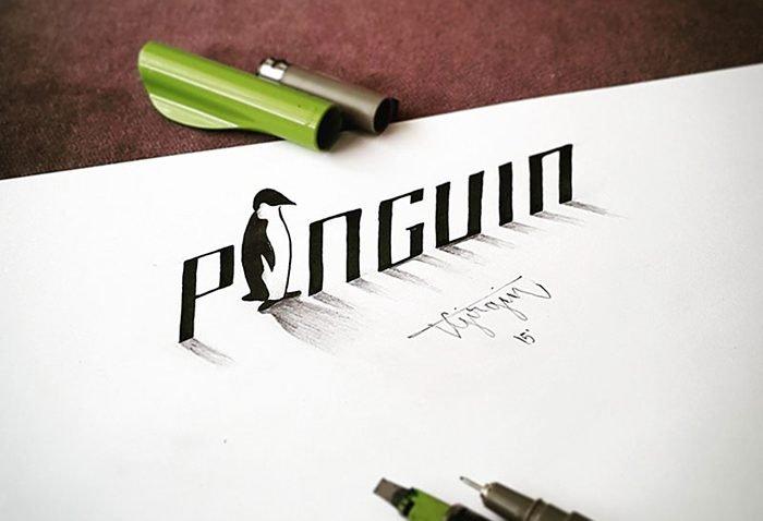 Tipografias ilustradas em 3D (9)