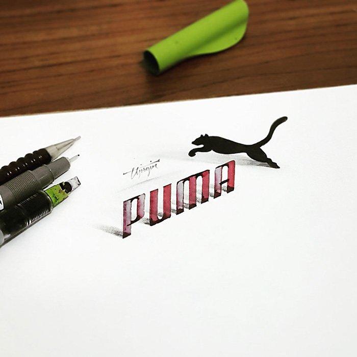 Tipografias ilustradas em 3D (6)
