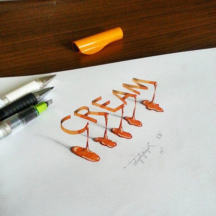 Tipografias ilustradas em 3D (5)